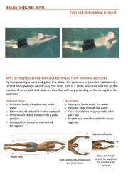 example breaststroke exercise