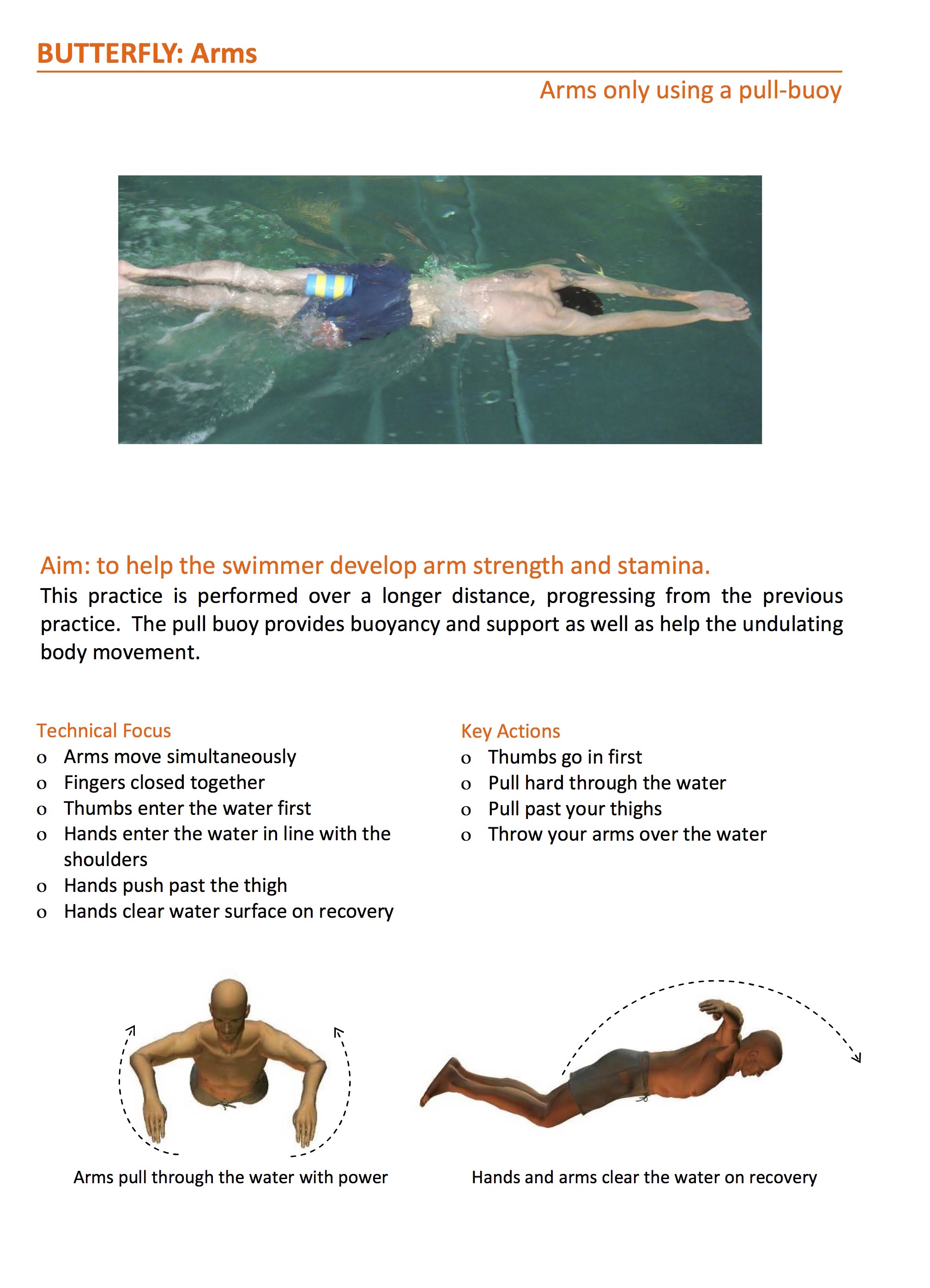 butterfly stroke exercise