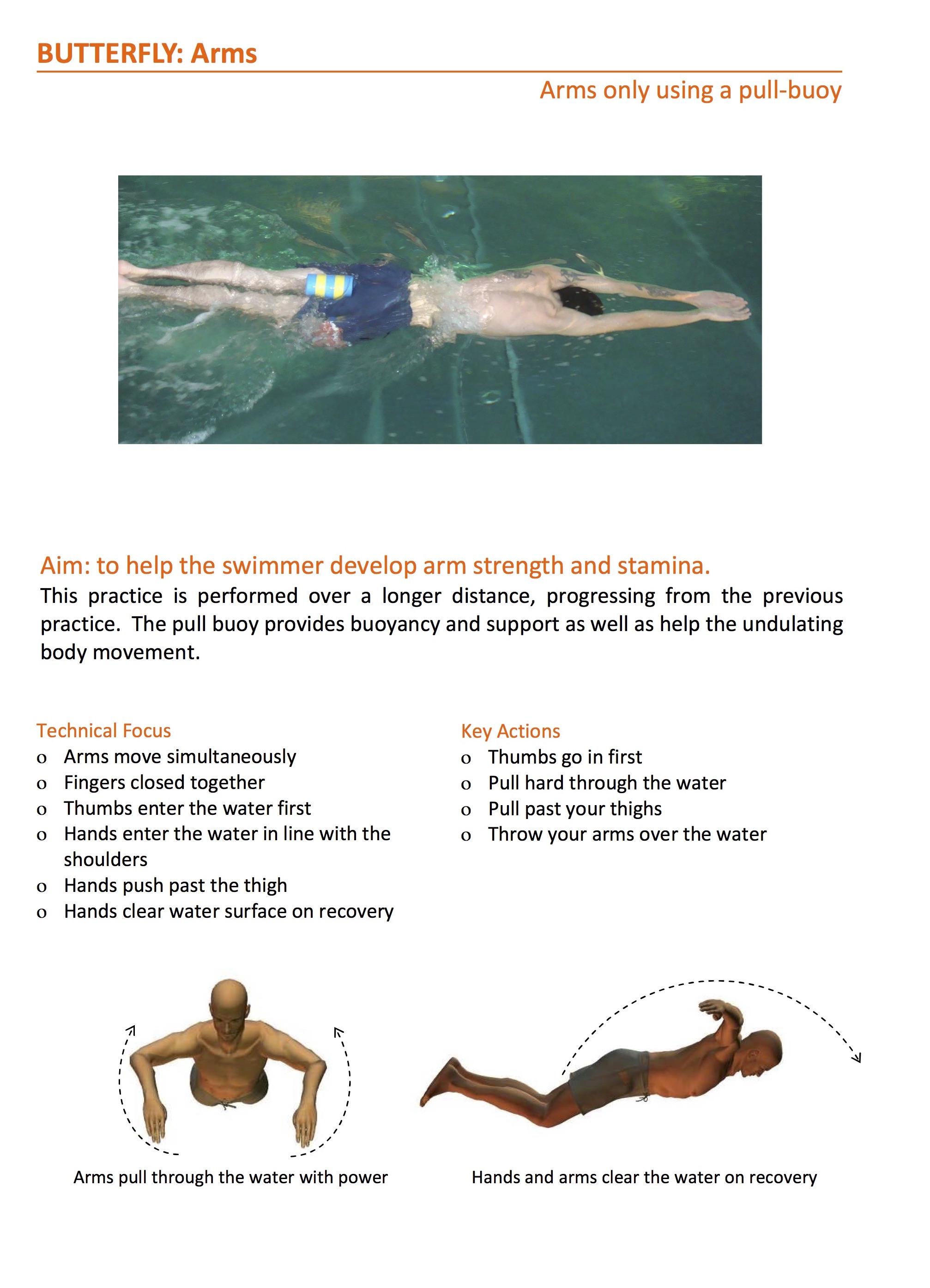 butterfly stroke exercise