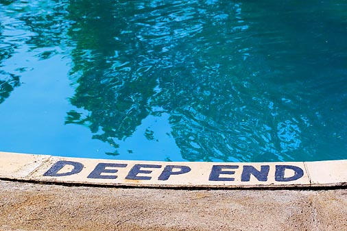 Overcome your fear of deep water