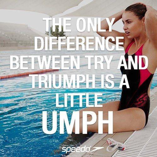 triumph swimming quote