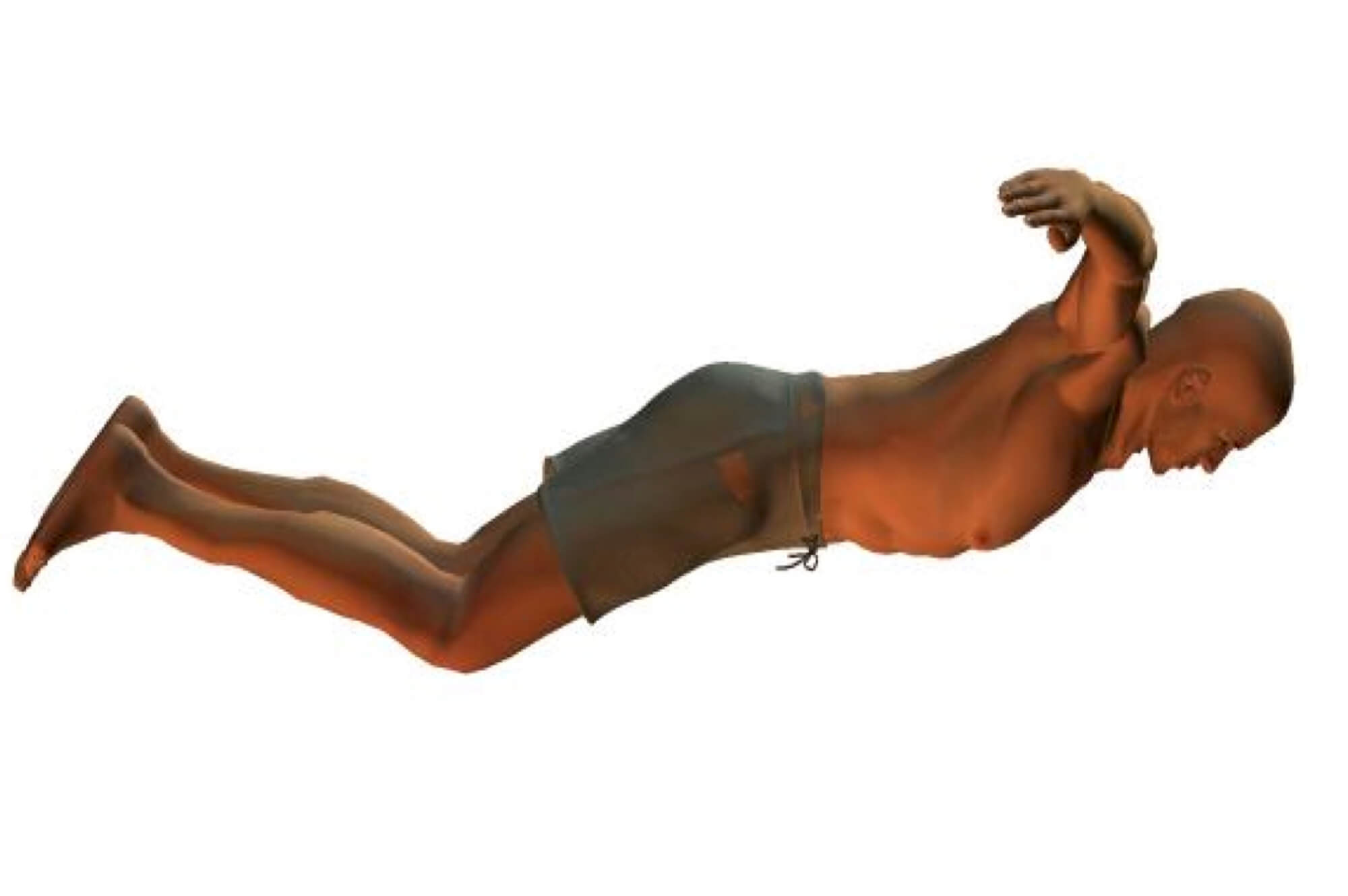 butterfly stroke body position