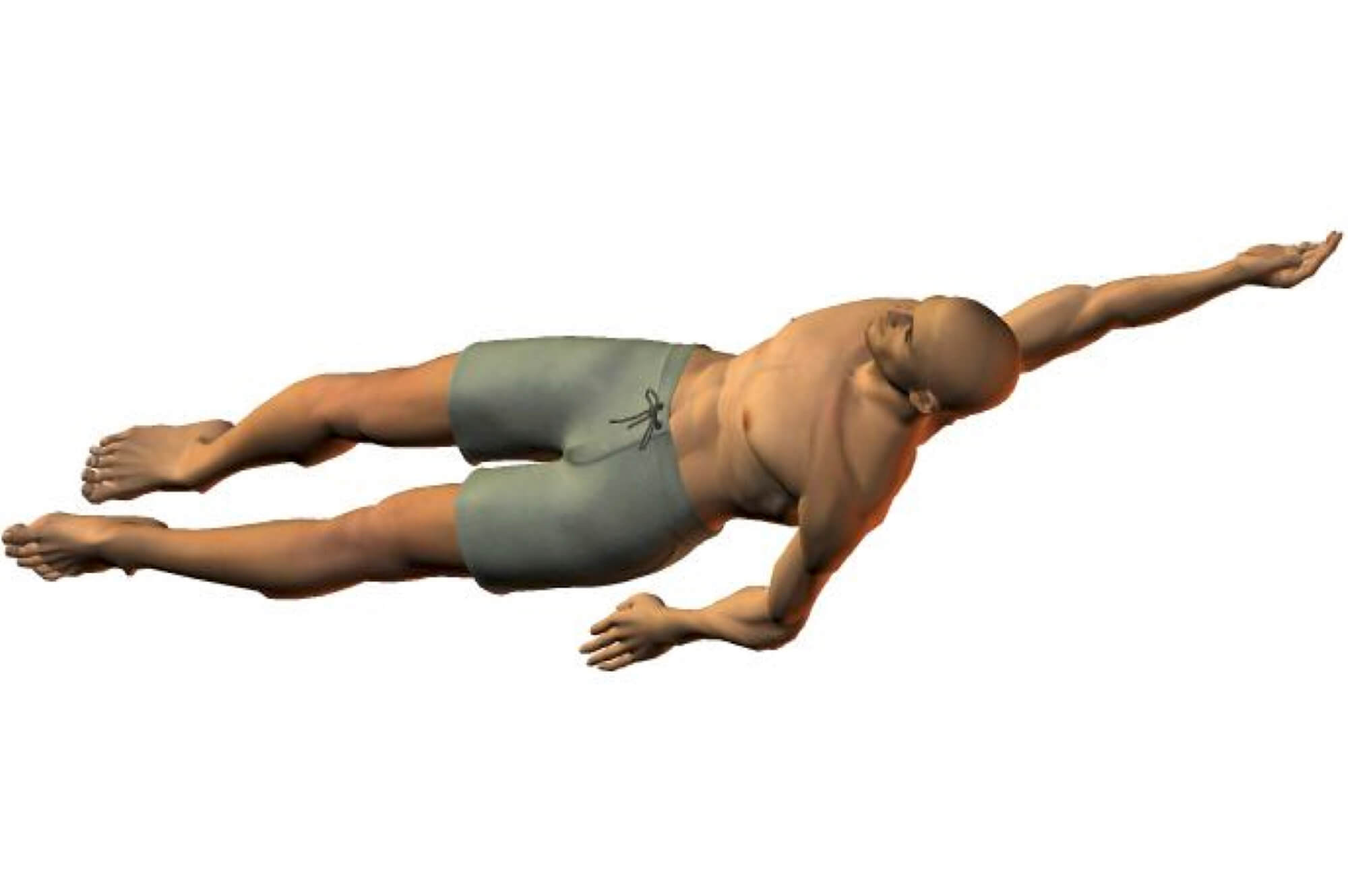 Backstroke breathing is regular and rhythmical