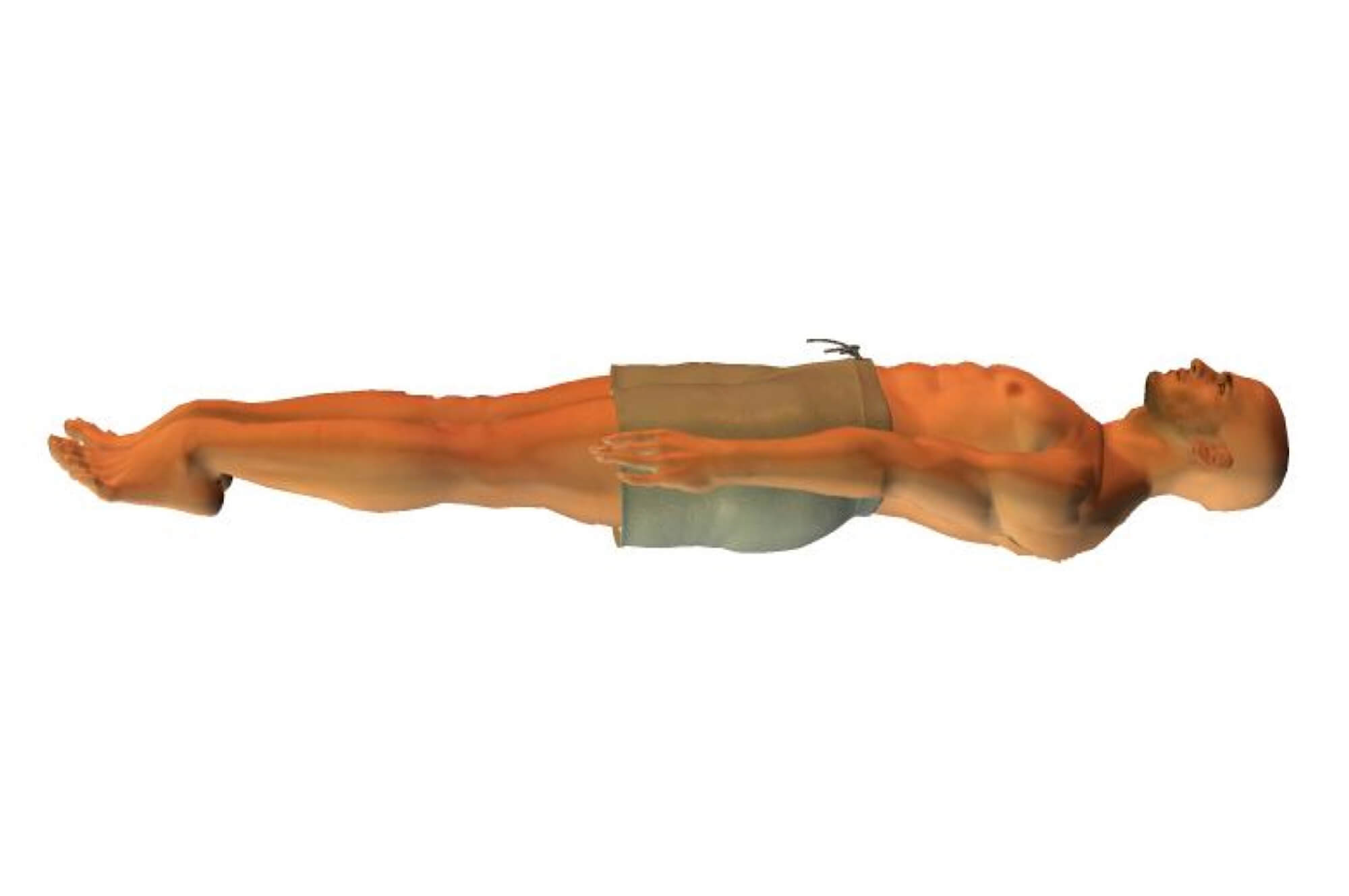 Correct backstroke body position is vital for an effective swimming stroke