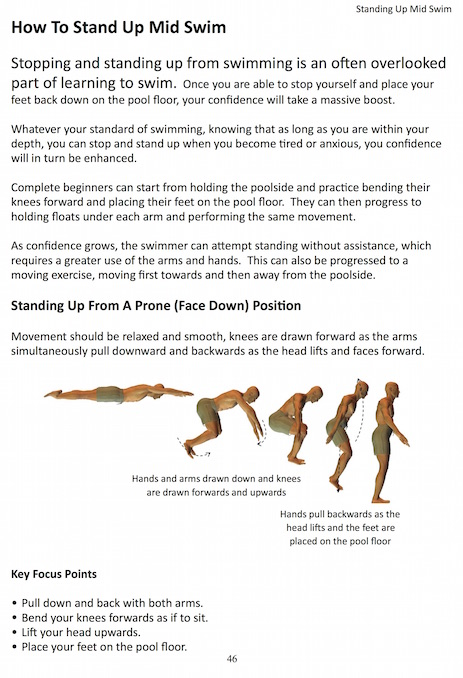 how to stand up mid swim sample page